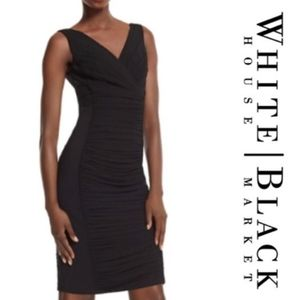 WHBM Slimming Ruched Dress - Size 00